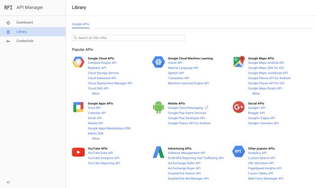 google-api-manager